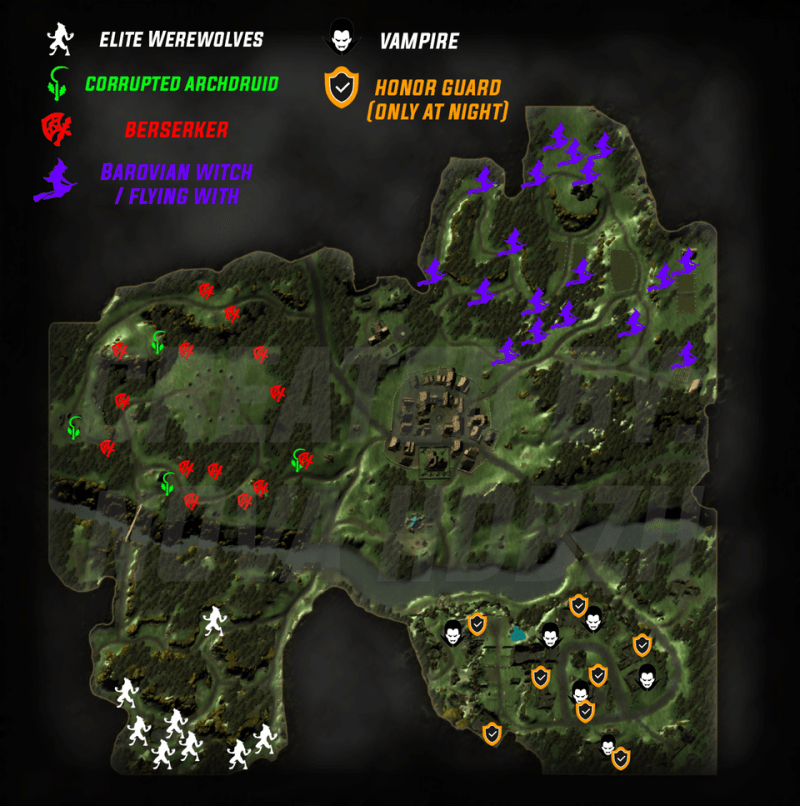 1-Star Poster Mobs Locations
