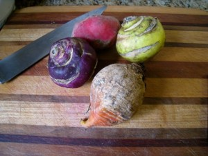 Purple and Green kohlrabi, Red and Golden Beets