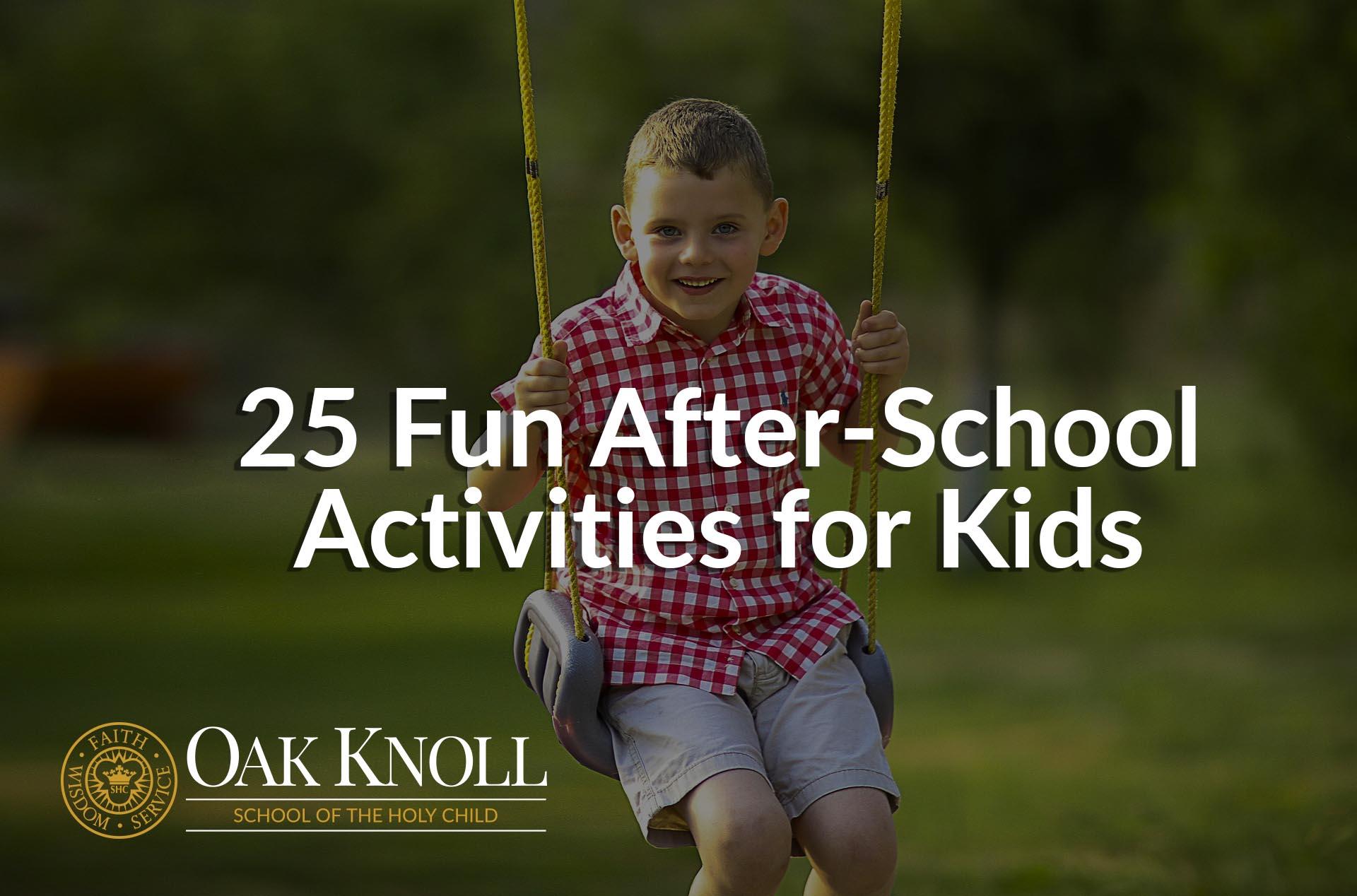 25 Fun After School Activities For Kids