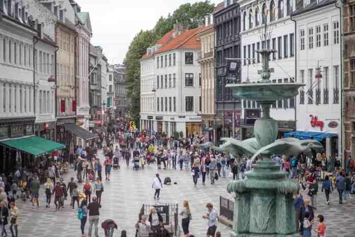 Strøget Caddesi, Kopenhag, Danimarka
