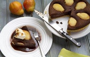 Image of the chocolate and pear tart