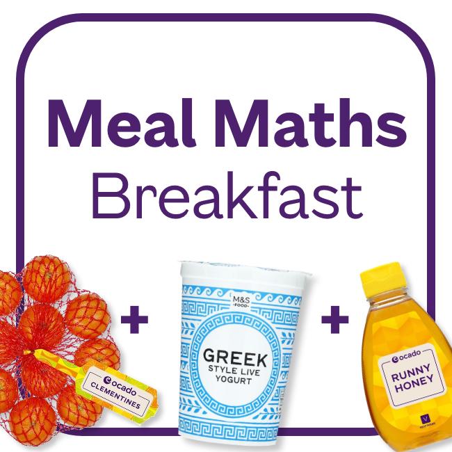 Meal Maths Breakfast