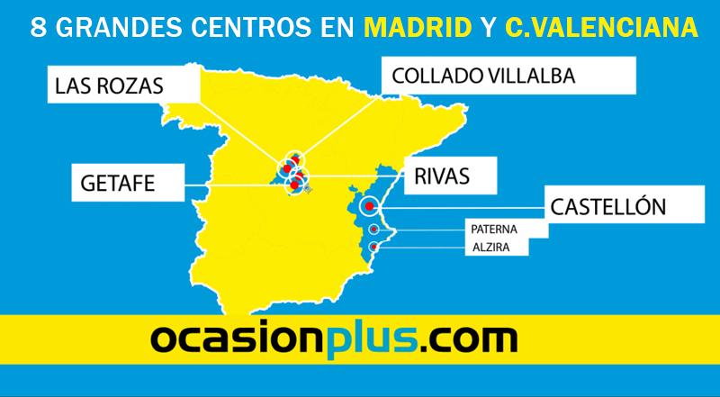 Puedes encontrarnos en 8 grandes centros en Madrid y Valencia