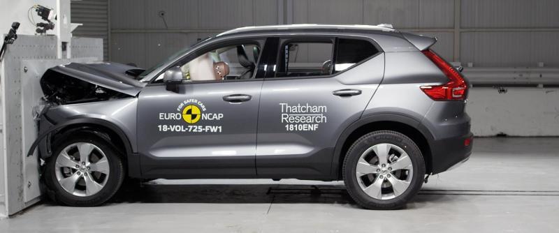 Volvo XC40, 5 estrellas Euro NCAP