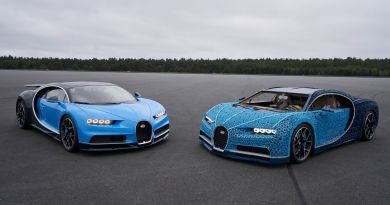 Bugatti Chiron fabricado con piezas de Lego