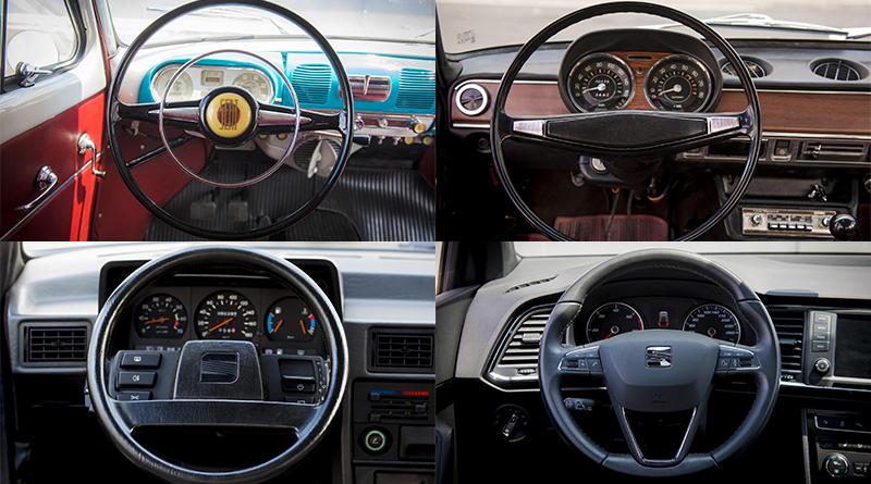 Así ha evolucionado el volante de Seat en 70 años