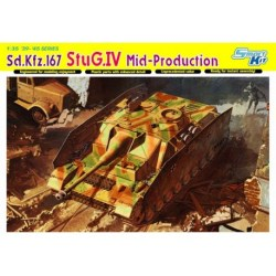Dragon - Carro de combate, Sd.Kfz.167 StuG.IV ( Mid-Production ). Escala 1:35, Ref: 6582.
