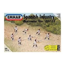 Emhar - Figuras de Infantería españolapeninsular de la batalla napoleónica ( 1807-14 ). kit de plástico listo para ensamblar y decorar. Escala 1:72, Ref: EM7215.