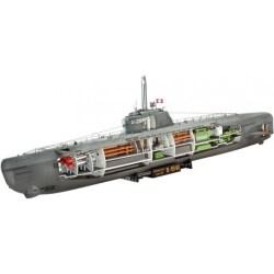 Revell - submarino Alemán U-Boat Type XXI, con interiores. Escala: 1:144. Ref: 05078.