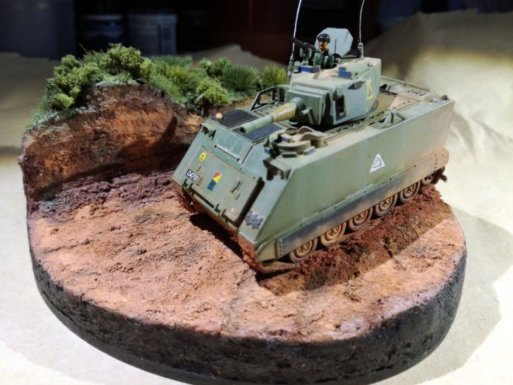13 FSV (fire support vehicle), Airfix 1/76. Calcas de la 2 div. caballería del ejército australiano