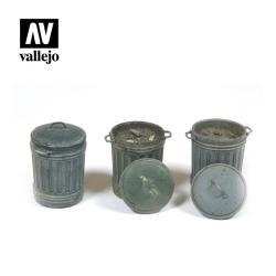 Vallejo – Cubos de basura. Escala 1:35. Ref: SC212.