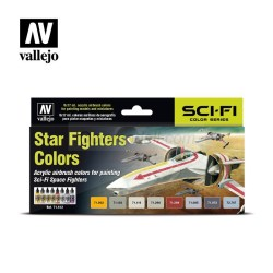 Vallejo – Set Model air Star Fighters colors. 8 Colores. Bote 17 ml. Ref: 71612.