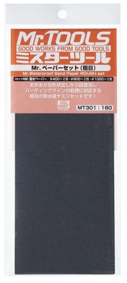 MR.TOOLS WATERPROOF SAND PAPER 400/600/1000 - Lijas de agua (2/cada). Marca MR Hobby. Ref: MT301.