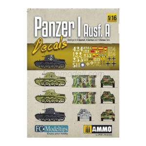 Panzer I, Ausf. A. Calcas escala 1/16. Marca Fcmodeltips / Fcmodeltrend. Ref: 16202