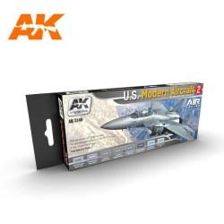 AK Interactive - Set colores para los aviones U.S. MODERN AIRCRAFT 2. Ref: AK2140.