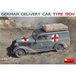 GERMAN DELIVERY CAR TYPE 170V. Escala 1:35. Marca Miniart. Ref: 35297