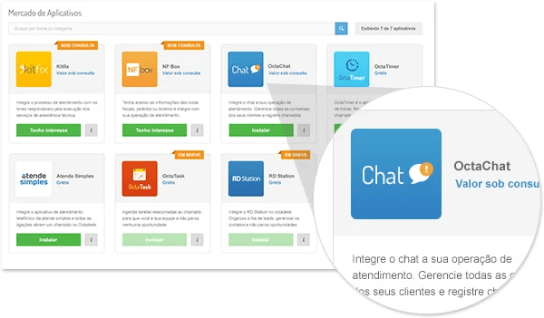 Octadesk chat atendimento online marketplace
