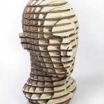 Cap de om 3D realizat prin imbinari de placaje