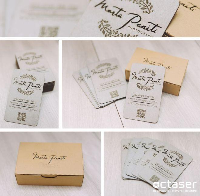 carti de vizita lemn gravura laser