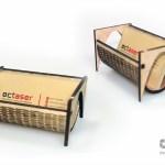 Suport carti de vizita realizat prin debitare laser