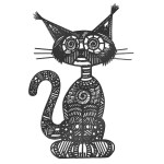 Decoratiune perete Pisica interior / exterior pentru casa si gradina din MDF sau otel