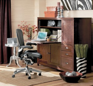 Pay attention to the size of your home office.