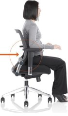 Use the backrest. That's what it's designed for
