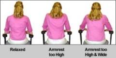 proper armrest position