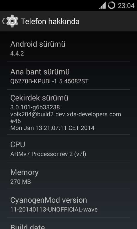 Samsung Wave I ve Samsung Wave II CyanogenMod 11 Android 4.4 Kitkat Yükleme