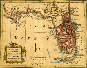 A New and Accurate Map of East and West Florida, Drawn from the best Authorities.