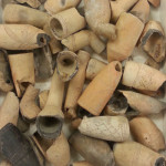 Clay pipes. Photo taken by Melissa Morris at the Virginia Department of Historic Resources.