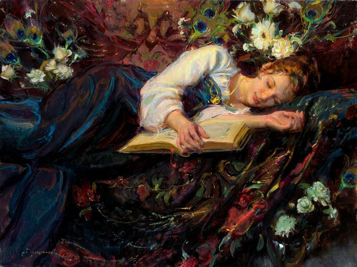 Αποτέλεσμα εικόνας για pretty young woman reading books in painting