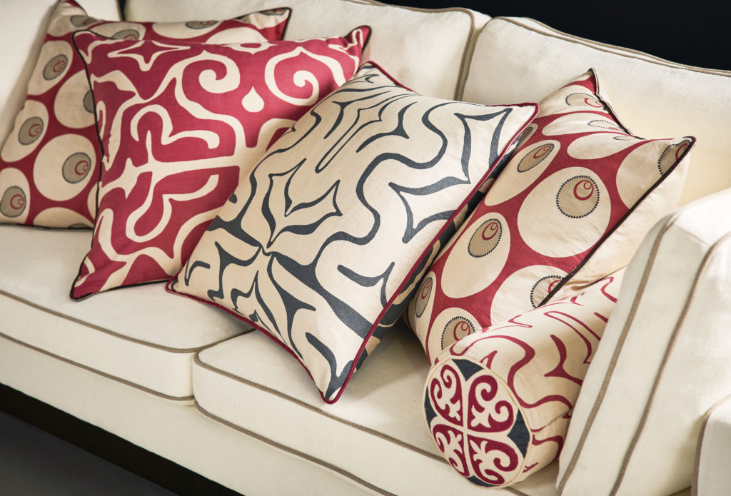 dressing a sofa with cushions blog oka