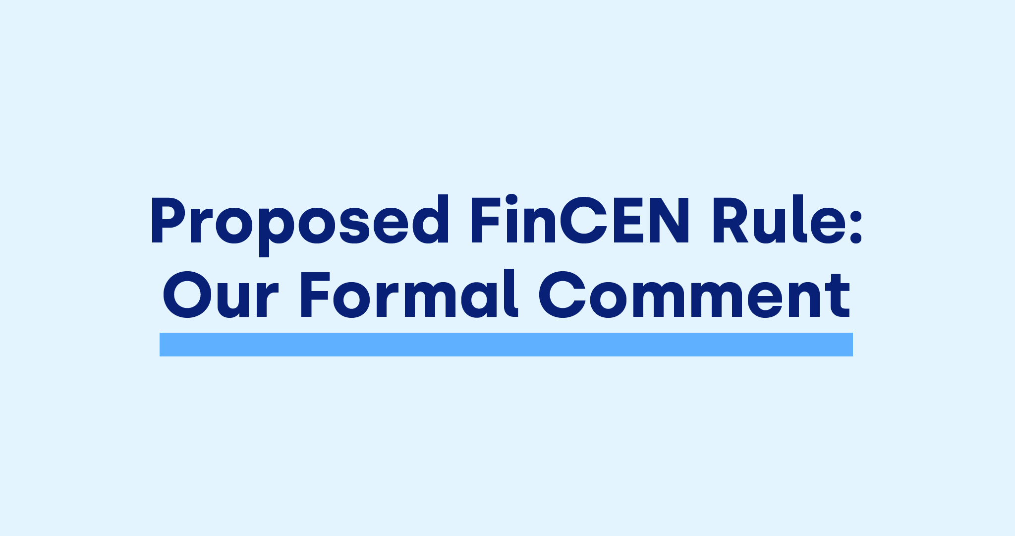 OKCoin FinCEN comment January 2021