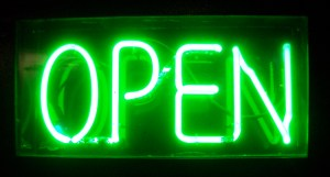 Neon sign Open 2005  Photographer User Justinc cc-by-sa