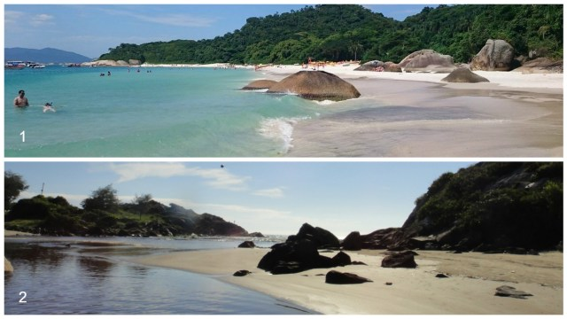 1- Ilha do Campeche (foto: Patrícia Souto) 2- Praia do Matadeiro