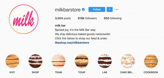 電商IG策略 Instagram Marketing Milk Bar