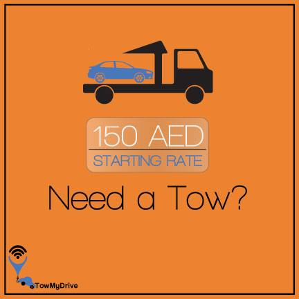 need a tow? starting aed 150 in Dubai