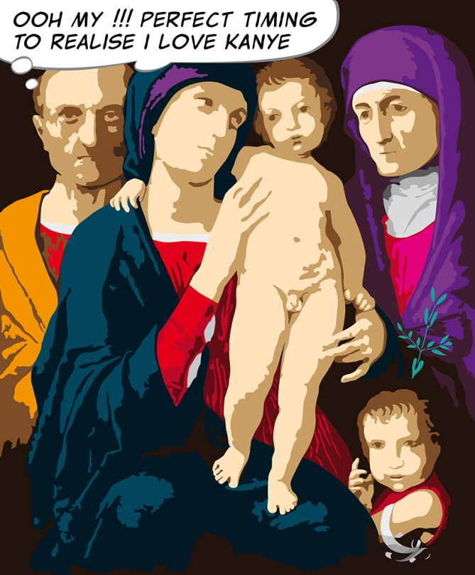 The Holy Family with Elizabeth_62x75