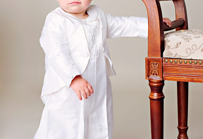 Anthony Silk Christening Romper