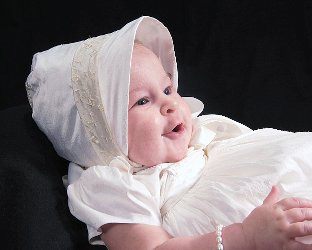 Virginia Embroidered Silk Christening Gown