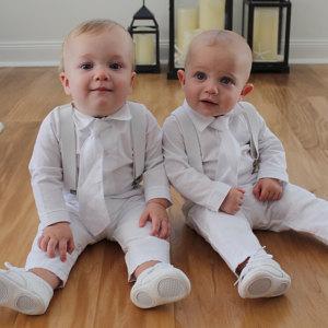 Landen Baby Suspender Outfit