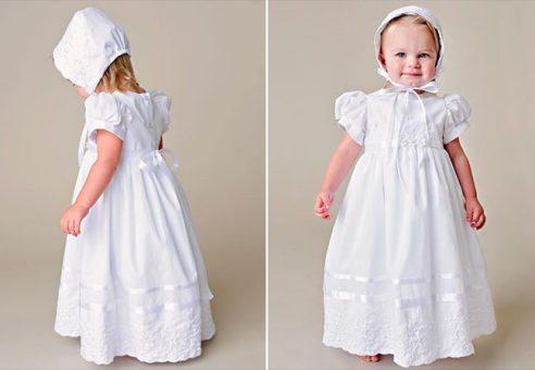 Erin/Faye Shamrock Christening Dress