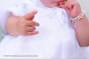 Christening Jewelry at One Small Child