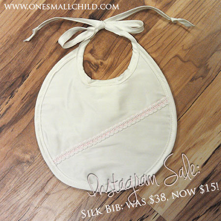 Instagram Sale: Gorgeous Silk Christening Bibs #onesmallchild