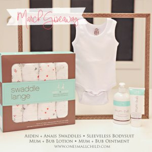 March Giveaway   Baby Products at One Small Child