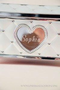 Engraved Ballerina Music Jewelry Box