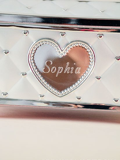 Engraved Ballerina Music Jewelry Box
