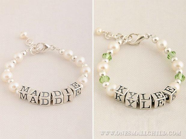 Baby Name Bracelets | One Small Child Jewelry