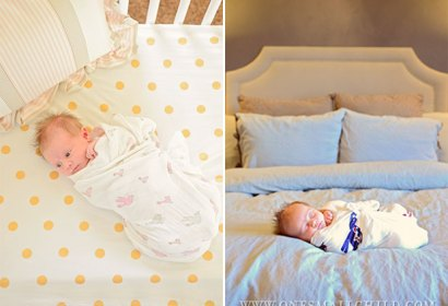 Newborn Swaddling | A great post on correct newborn swaddling with a link to a video by a pediatrician.